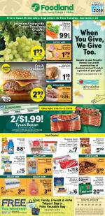 Foodland Weekly Ad Sep 18 24 2019