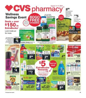 CVS Weekly Ad 8/18 - 8/24 2019 | Extrabucks and Coupons