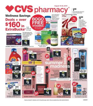 Weekly Sales Circular >> Cvs Weekly Ad 8 25 8 31 2019 Extrabucks And Coupons