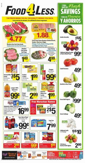 food 4 less ad oct 9 15 2019
