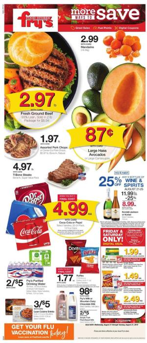 frys weekly ad aug 21 2019