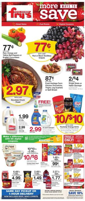 Fry's Weekly Ad Sep 11 - 17, 2019 | Weekly Specials, Coupons