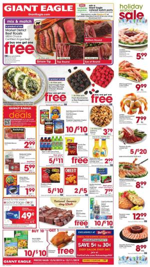 giant eagle weekly ad dec 5 2019