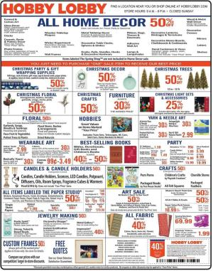 hobby lobby weekly ad dec 1 7 2019