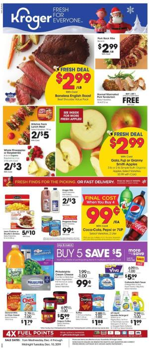 kroger weekly ad dec 4 2019