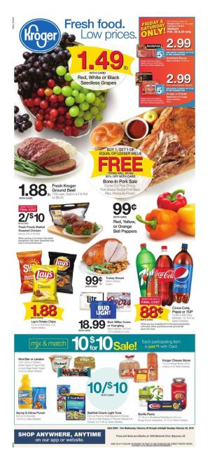 kroger weekly ad feb 20 2019