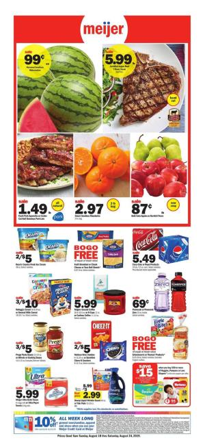 Weekly Sales Circular >> Meijer Weekly Ad Aug 25 31 2019 Preview And Deals
