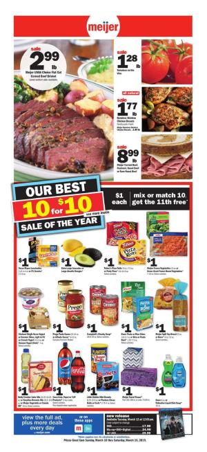 Meijer Weekly Ad Mar 10 16 2019 Preview And Deals
