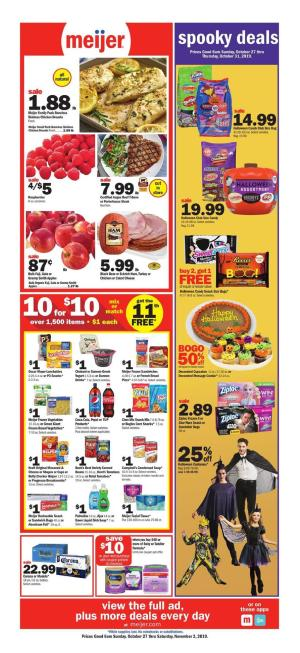 Meijer Weekly Ad Nov 3 9, 2019 | Preview and Deals