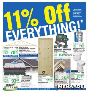 menards ad jan 5 11 2020