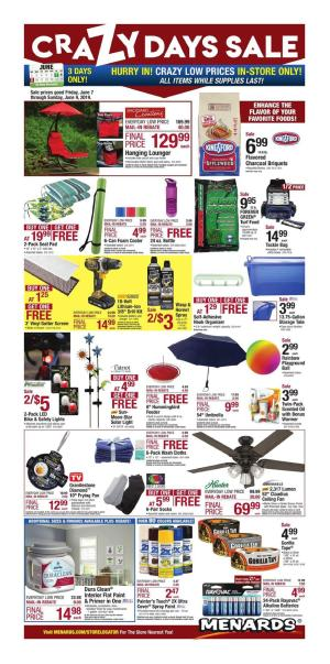 Menards Ad Home Improvement Hardware Weekly Deals