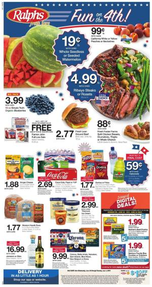 Ralphs Weekly Ad Jul 3 9 2019 Grocery Sale New Deals