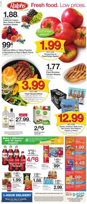 Ralphs Weekly Ad Sep 11 - 17, 2019 | Grocery Sale, New Deals