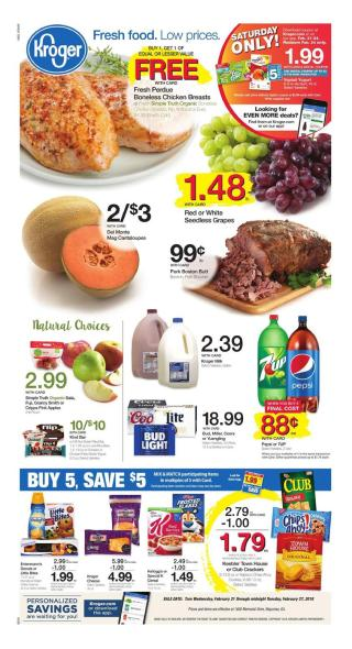kroger weekly ad february 21 2018