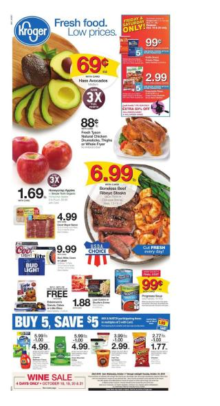 kroger weekly ad oct 17 2018