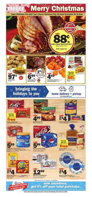 Meijer Weekly Ad Dec 23 29 2018 Preview And Deals