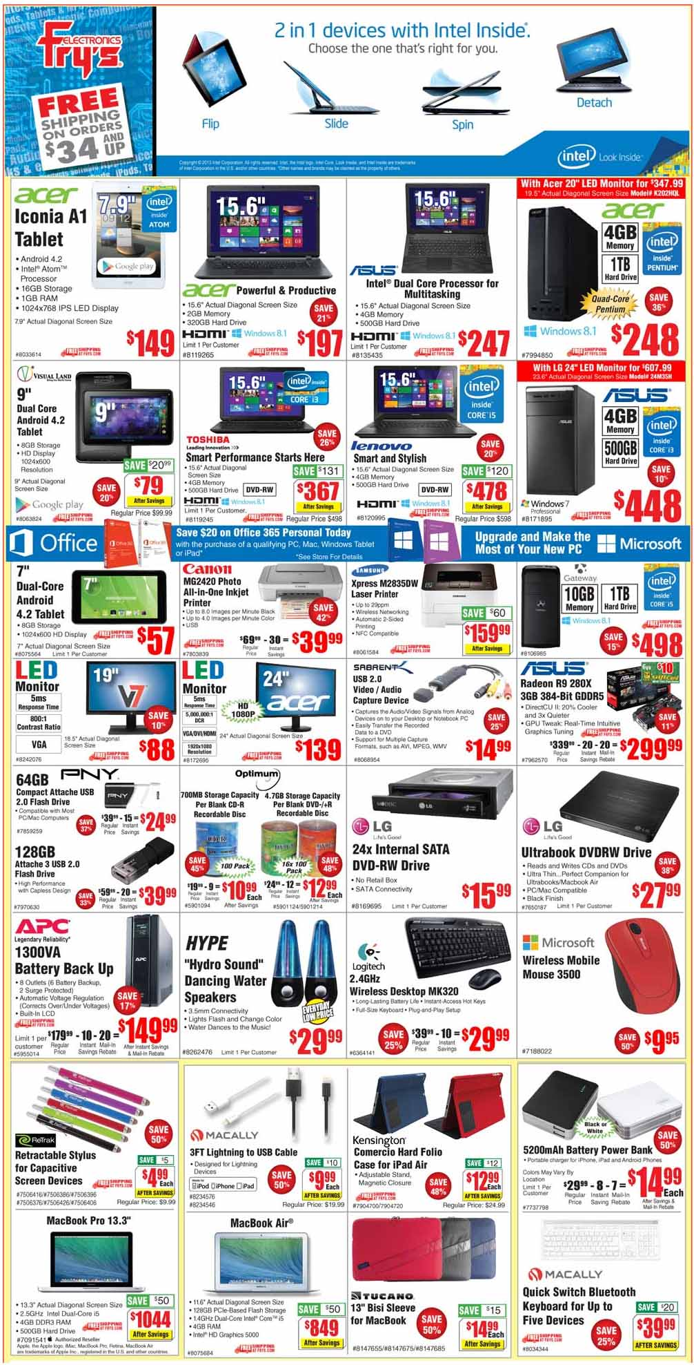 Fry's Electronics Weekly Sales Ad September 19