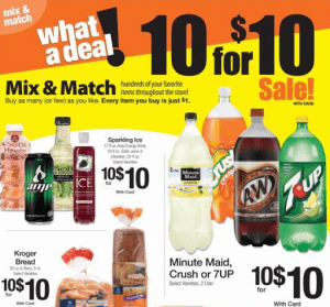 Kroger Ad Mix and Match
