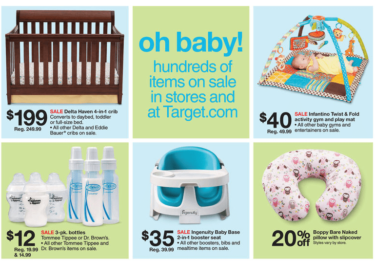 Target Ad What A Baby Wants Sale For Babies