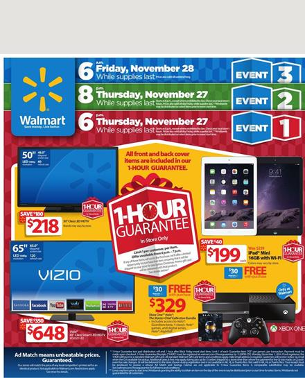 Walmart Black Friday Ads Featuring Huge Product Range