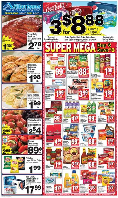 Albertsons Weekly Ad Preview Mixed Product Range