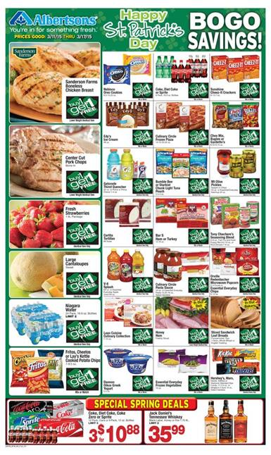 Albertsons Weekly Ad March 11 BOGO Savings