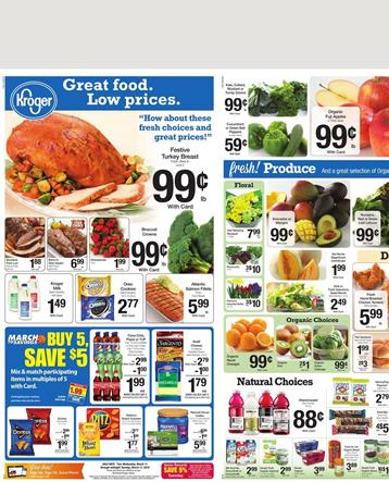 Kroger Weekly AD Food 11 March 2015
