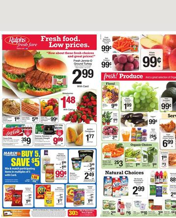 Ralphs Weekly Ad 11 March 2015 Fresh Food and Supermarket Savings