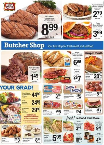 Kroger Weekly Ad Butcher and Fresh Grocery 13 May 2015