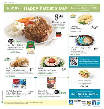 Publix Ad Jun 17 2015 and Fathers Day