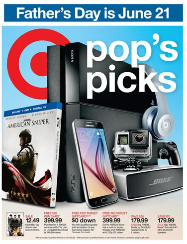 Target Weekly Ad Jun 14 - Jun 20 Electronics 2015 (Fathers Day)