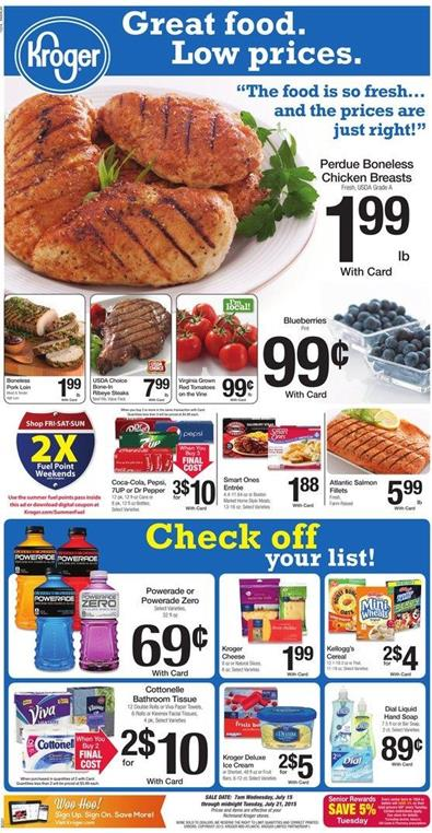 Kroger Weekly Ad Jul 15 - 21 Jul 2015