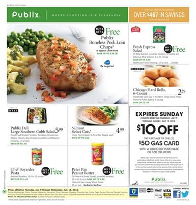 Publix Weekly Ad July 8 - July 14 2015