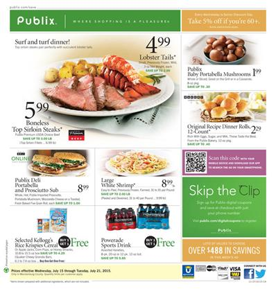 Publix Weekly Ad Products Jul 15 - Jul 21 2015