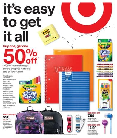Target Weekly Ad Preview Jul 19 - Jul 25 2015 School Supplies