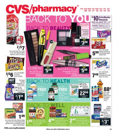 CVS Weekly Ad Preview Aug 9 - Aug 15 2015
