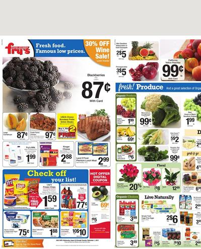 Fry's Food Weekly Ad Aug 26 2015