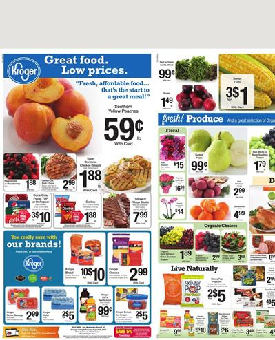Kroger Weekly Ad Preview Aug 12 2015 Food