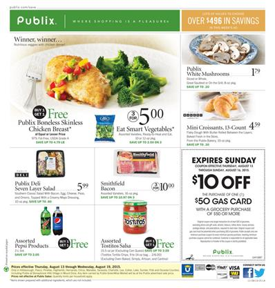 Shop at Publix Weekly Ad Online in this Weekend