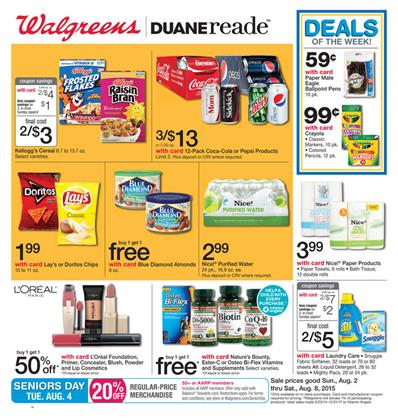 Walgreens Weekly Ad Preview Aug 2 - Aug 8 2015