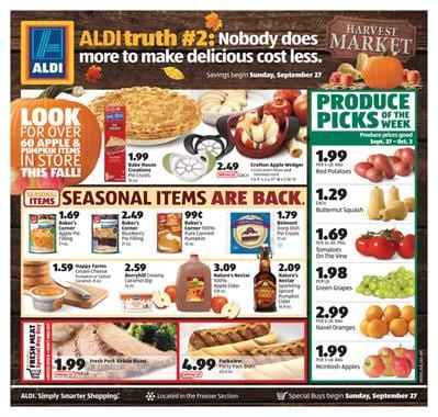ALDI Special Buys Weekly Ad Products Sep 27 - Oct 3 2015