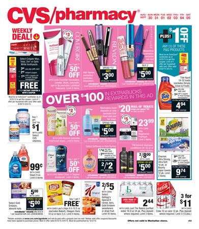 CVS Weekly Ad Preview Aug 30 - Sep 5 2015