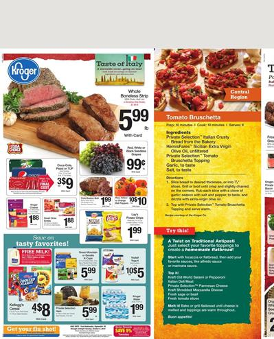 Kroger Weekly Ad Products Sep 30 - Oct 6 2015