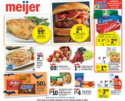 Meijer Weekly Ad Preview Sep 27 - Oct 3 2015