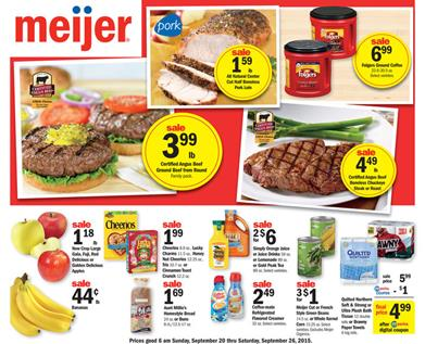 Meijer Weekly Ad Products Sep 20 - Sep 26 2015