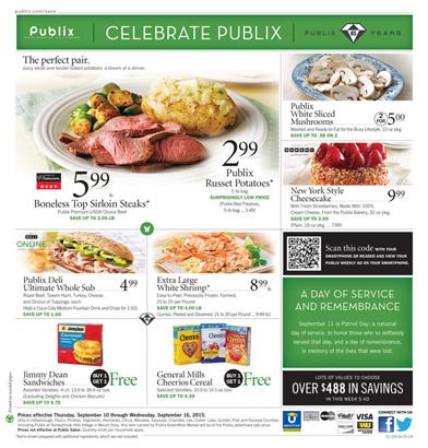 Publix Weekly Ad Food Sep 10 2015
