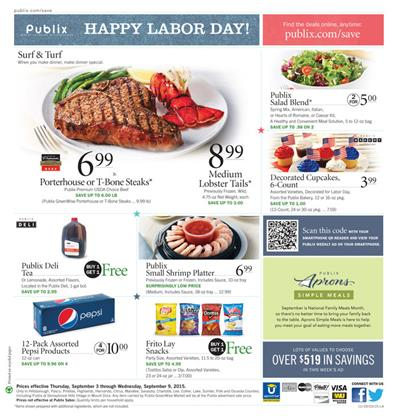 Publix Weekly Ad Labor Day Savings Sep 3 2015