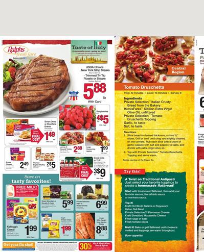 Ralphs Weekly Ad Products Sep 30 - Oct 6 2015