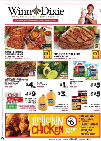 Dixie Weekly Ad Products Sep 30 Oct 6 2015