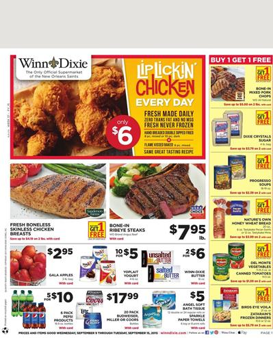 Dixie Weekly Ad Special Food Prices Sep 9 2015